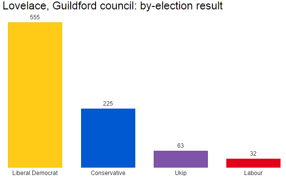 Guildford by-election result